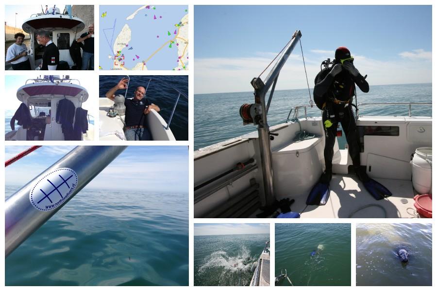 Duik op de Fortuna en een ondbekend wrak met Northsea Divers 12 juli 2014